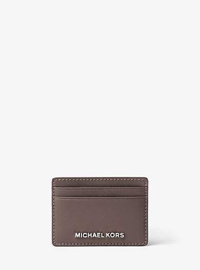 Jet Set Travel Saffiano Leather Card Case by Michael Kors