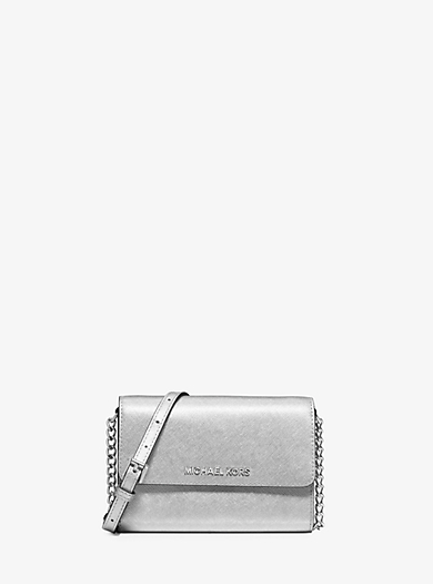 Jet Set Travel Metallic Leather Smartphone Crossbody by Michael Kors