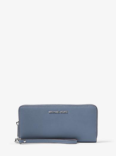 Jet Set Travel Saffiano Leather Continental Purse by Michael Kors