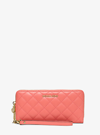 Alex Quilted-Leather Continental Wristlet by Michael Kors