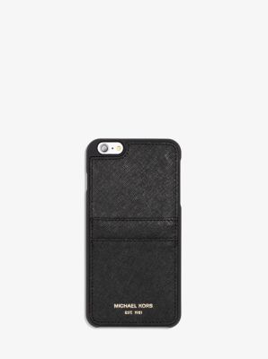 Saffiano Leather Smartphone Case  by Michael Kors