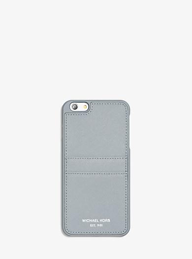 Étui pour téléphone intelligent en cuir Saffiano by Michael Kors