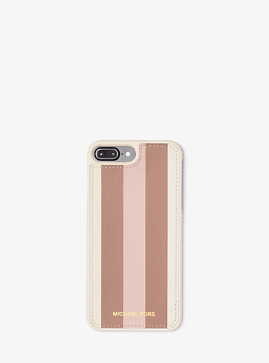 Funda de teléfono de piel a rayas para iPhone 7 by Michael Kors