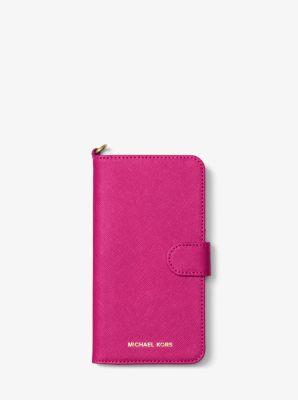마이클 코어스 Michael Kors Saffiano Leather Folio Phone Case For iPhone 7 Plus