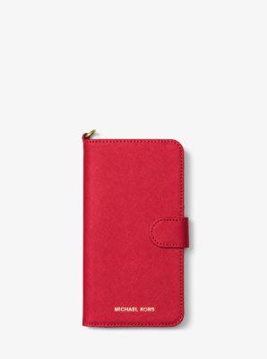마이클 코어스 Michael Saffiano Leather Folio Phone Case For iPhone7/8 Plus