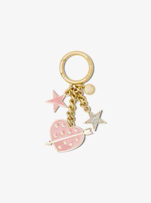 Pavé Gold-Tone Keychain by Michael Kors