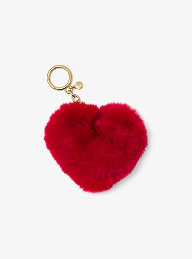 Portachiavi a cuore in pelliccia by Michael Kors