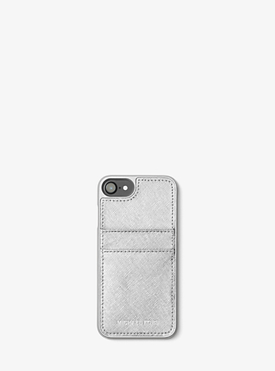 Metallic Saffiano Leather Phone Case For iPhone 7 by Michael Kors