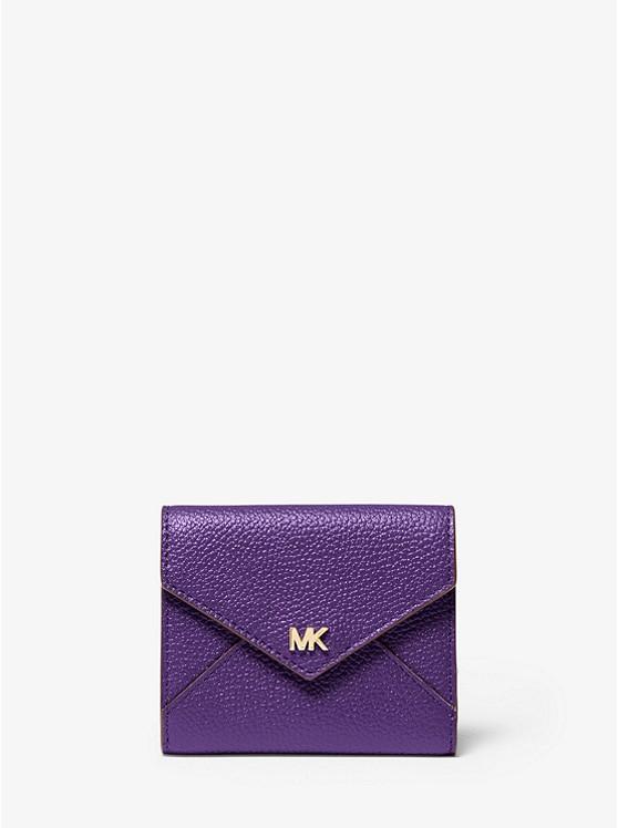 Medium Pebbled Leather Envelope Wallet | Michael Kors