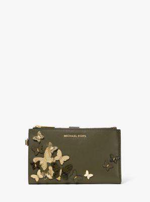 마이클 마이클 코어스 Michael Michael Kors Adele Butterfly Embellished Leather Smartphone Wallet
