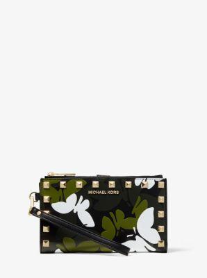 마이클 마이클 코어스 Michael Michael Kors Adele Butterfly Camo Leather Smartphone Wallet
