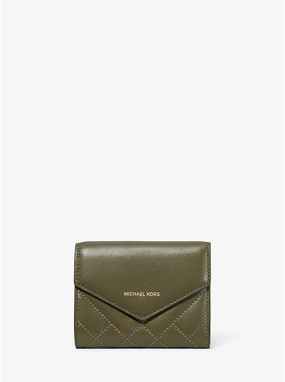 Small Quilted Leather Envelope Wallet | Michael Kors