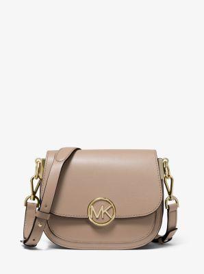 마이클 마이클 코어스 릴리백 스몰 새들백 - 트러플 Michael Michael Kors Lillie Small Leather Saddle Bag,TRUFFLE