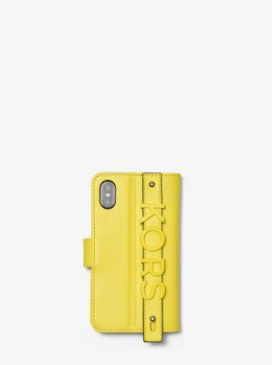 마이클 마이클 코어스 아이폰X, XS 장지갑 Michael Michael Kors Embellished Leather Hand-Strap Folio Case For iPhone X/XS