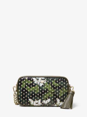 마이클 마이클 코어스 Michael Michael Kors Small Studded Butterfly Camo Camera Bag