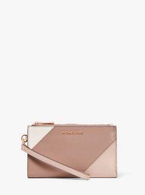 마이클 마이클 코어스 Michael Michael Kors Adele Tri-Color Leather Smartphone Wallet,SFP/LTCR/FWN