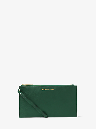 Bedford Large Leather Zip Wristlet by Michael Kors