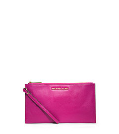 Bedford Large Leather Zip Clutch