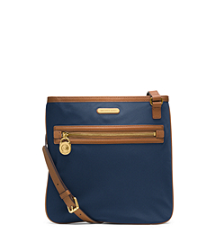 Kempton Leather-Trimmed Nylon Large Crossbody