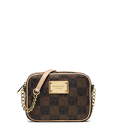 Jet Set Travel Logo Checkerboard Crossbody