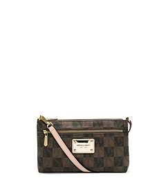 Jet Set Logo Checkerboard Wristlet