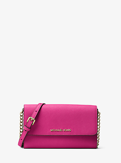Tracolla Jet Set Travel in pelle Saffiano per smartphone by Michael Kors