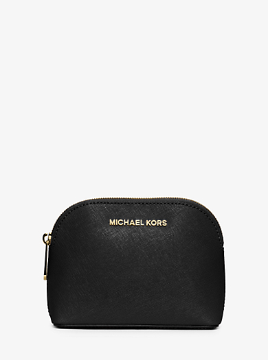 Cindy Saffiano Leather Travel Pouch by Michael Kors