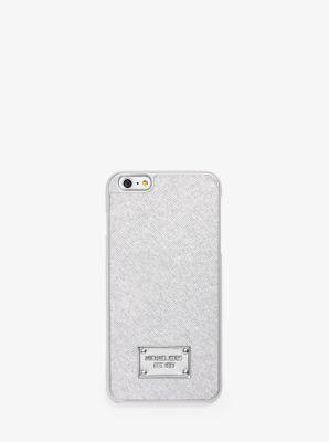 Metallic Leather Smartphone Case by Michael Kors