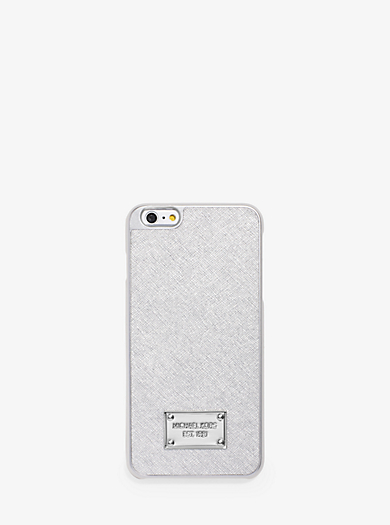 Metallic Leather Smartphone Case by Michael Kors