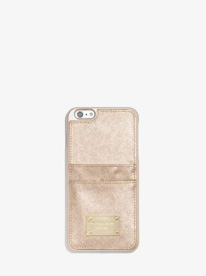 Metallic Leather Phone Case for iPhone 6 Plus/6s Plus by Michael Kors