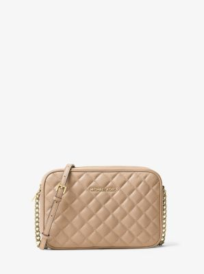 Jet Set Travel Large Quilted-Leather Crossbody by Michael Kors