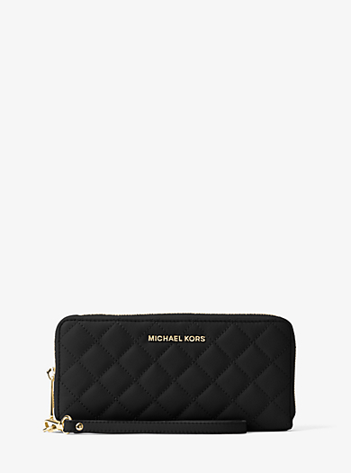 Jet Set Travel Quilted-Leather Continental Wristlet by Michael Kors