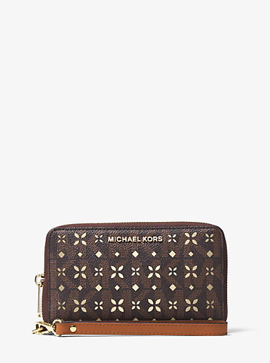 Jet Set Travel Large Perforated Logo Phone Case by Michael Kors