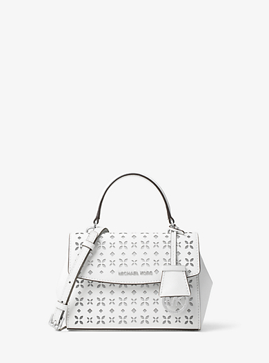 Ava Extra-Small Perforated-Leather Crossbody by Michael Kors