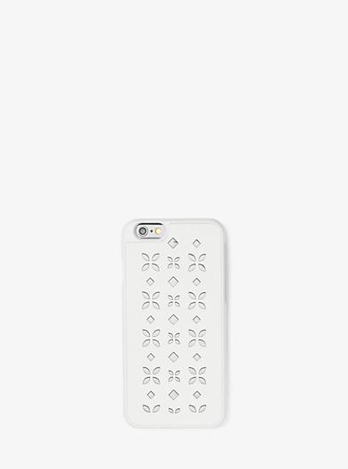 Étui pour téléphone en cuir perforé by Michael Kors