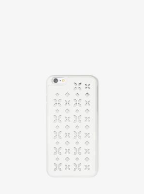 Perforated-Leather Phone Case by Michael Kors