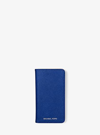 Étui pour téléphone Folio en cuir Saffiano by Michael Kors