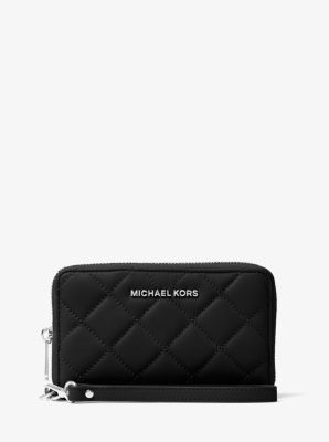 Jet Set Travel Large Quilted-Leather Smartphone Wristlet by Michael Kors