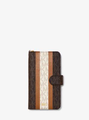 마이클 마이클 코어스 장지갑 Michael Michael Kors Logo Stripe Wristlet Folio Case For iPhone XR