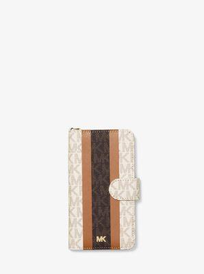 마이클 마이클 코어스 장지갑 Michael Michael Kors Logo Stripe Wristlet Folio Case For iPhone X/XS