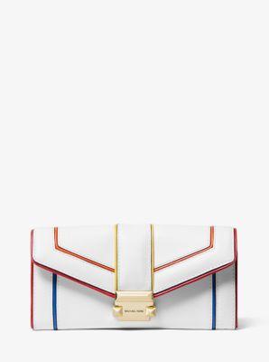 마이클 마이클 코어스 위트니 장지갑 라지 Michael Michael Kors Whitney Large Rainbow Quilted Leather Chain Wallet