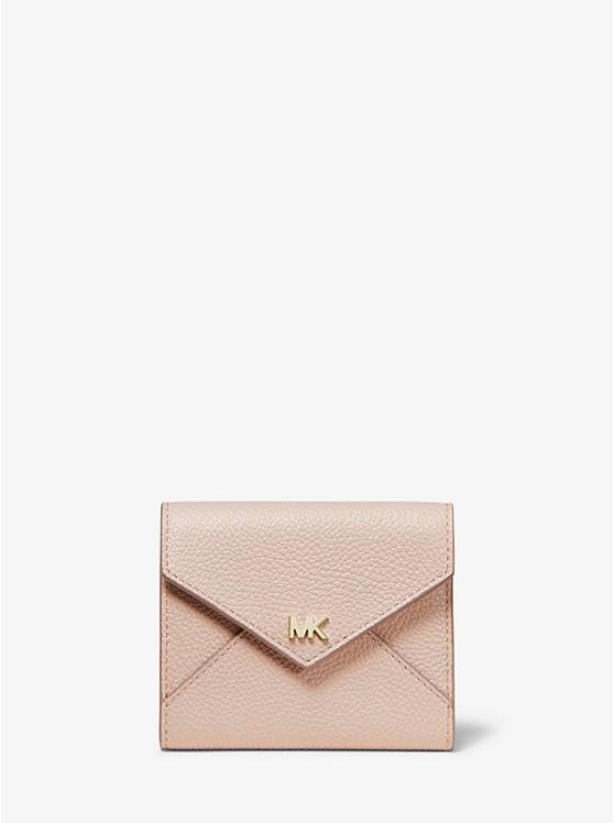 Medium Two-Tone Pebbled Leather Envelope Wallet | Michael Kors