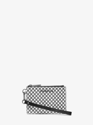 마이클 마이클 코어스 Michael Michael Kors Checkerboard Logo Leather Coin Purse