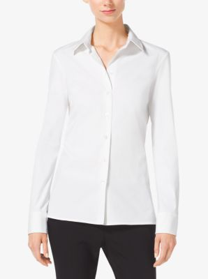 Cotton-Poplin Button-Down Shirt by Michael Kors