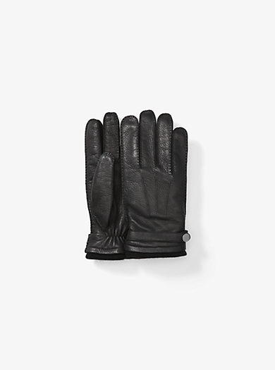 Leather Gloves by Michael Kors