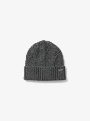 Cable-Knit Wool Beanie by Michael Kors