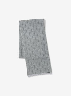 Contrast-Tipped Wool Scarf by Michael Kors