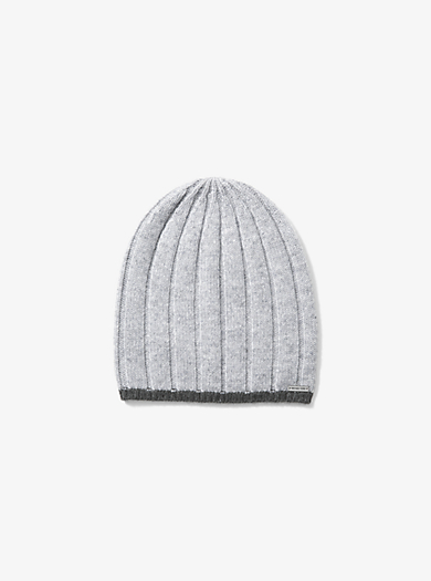 Contrast-Tipped Wool Beanie by Michael Kors