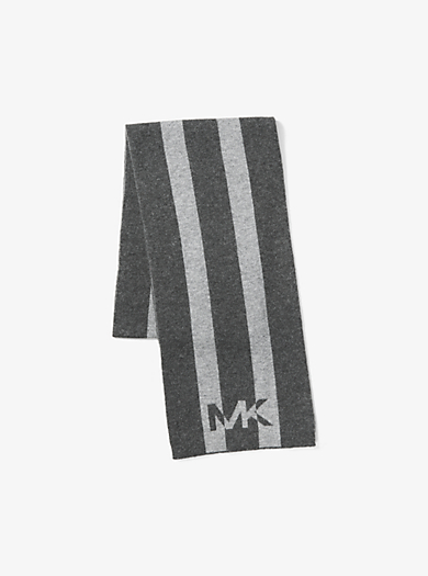 Striped Wool Scarf by Michael Kors