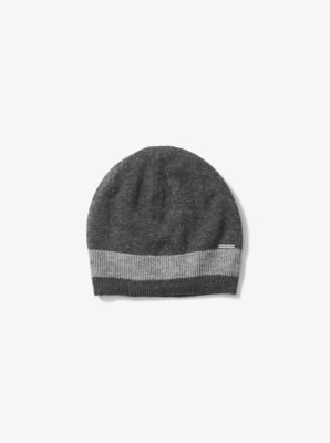 Contrast-Trim Wool Beanie by Michael Kors